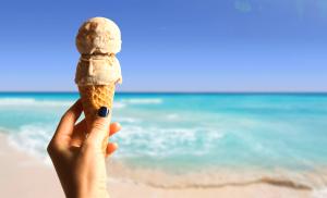 Cozumel My Cozumel beach and ice cream