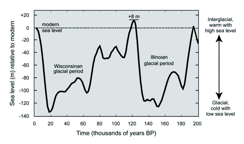 Cozumel Formation Sea Level Chart