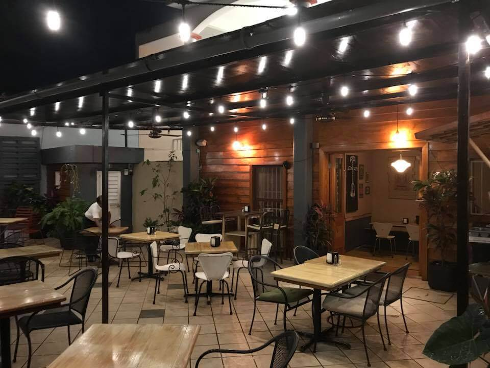 Cozumel My Cozumel Le Chef patio at night